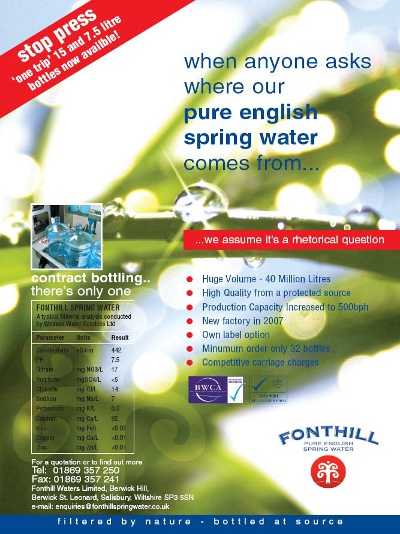 Pure English Spring Water